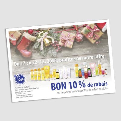 Flyer publicitaire pour réductions sur des produits