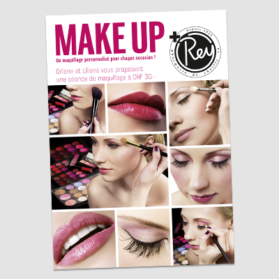 Affiche publicitaire pour produits de beauté