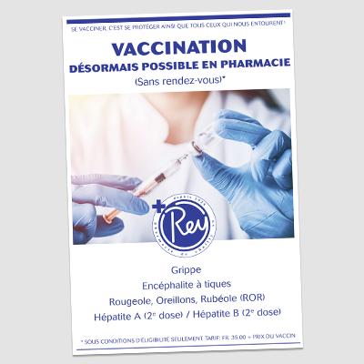 Affiche publicitaire pour vaccination