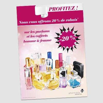 affiche publicitaire pour parfums